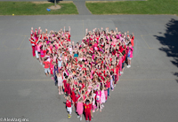 Whole school heart photo